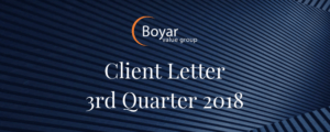 The Boyar Value Group's 3rd Quarter 2018 Client Letter