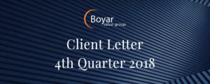 The Boyar Value Group's 4th Quarter 2018 Client Letter