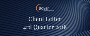 The Boyar Value Group's 4rd Quarter 2018 Client Letter
