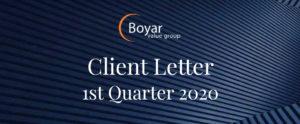 The Boyar Value Group's 1st Quarter 2020 Client Letter