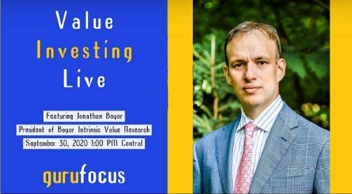 Jonathan Boyar on GuruFocus's Value Investing Live