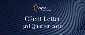 The Boyar Value Group 3rd Quarter 2020 Client Letter