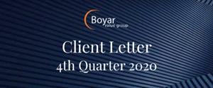 The Boyar Value Group 4th Quarter 2020 Client Letter
