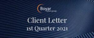 The Boyar Value Group 1st Quarter 2021 Client Letter