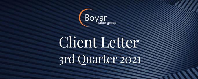 The Boyar Value Group 3rd Quarter Client Letter
